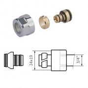 """Adapter na alu-pex - 3/4"""" (chrom lub satyna)"""